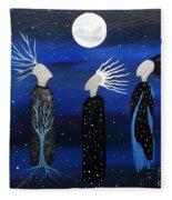 We All See The Same Moon Fleece Blanket
