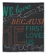 We Love.... Fleece Blanket