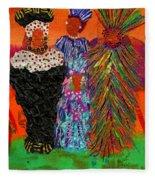 We Women Folk Fleece Blanket