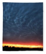 Weaking Cells Made For A Perfect Mammatus Sunset Fleece Blanket