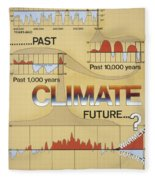 Weather: Climate Change Fleece Blanket