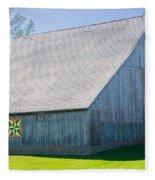 Weathered Barn Fleece Blanket