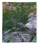 Weathered Cedar Overlooking The Castor River Fleece Blanket