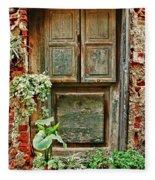 Weathered Door Fleece Blanket