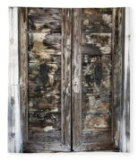 Weathered Wood Door Venice Italy Fleece Blanket