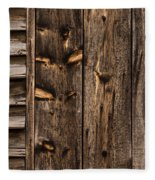 Weathered Wooden Abstracts - 3 Fleece Blanket