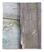 Weathered Wooden Boards Fleece Blanket