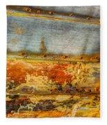 Weathered Wooden Boat - Abstract Fleece Blanket