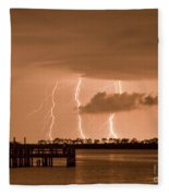 Weaver Park Lightning Fleece Blanket