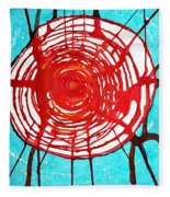 Web Of Life Original Painting Fleece Blanket