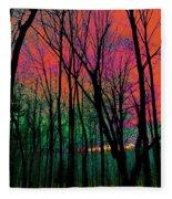 Webbs Woods Sunset Fleece Blanket