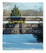 Webster Park Sign Fleece Blanket