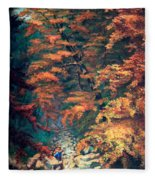 Webster's Falls Fleece Blanket