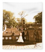 Wedding In Central Park Fleece Blanket