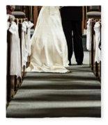Wedding In Church Fleece Blanket