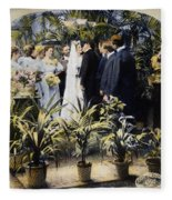 Wedding Party, 1897 Fleece Blanket