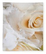 Wedding White Flowers Fleece Blanket