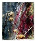 Weed Abstract Blend 1 Fleece Blanket