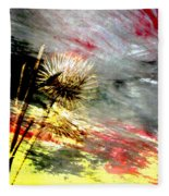 Weed Abstract Blend 2 Fleece Blanket