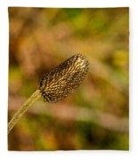 Weed Seed Head Fleece Blanket