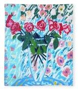 Weekend Roses Fleece Blanket