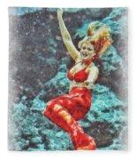 Weeki Wachee Mermaid Fleece Blanket