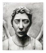 Weeping Angel Don't Blink Doctor Who Fan Art Fleece Blanket