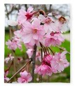 Weeping Cherry Blossoms Fleece Blanket