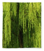 Weeping Willow Tree Enchantment  Fleece Blanket