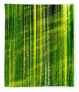 Weeping Willow Tree Ribbons Fleece Blanket