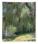 Weeping Willow Tree Fleece Blanket