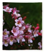 Weigela Branch Fleece Blanket