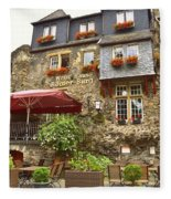 Weinhaus Restaurant Bachrach Germany Fleece Blanket