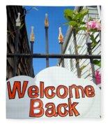 Welcome Back Fleece Blanket