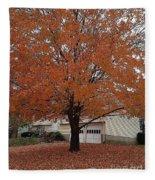 Welcome Fall Fleece Blanket