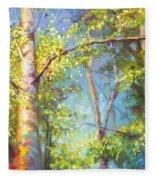 Welcome Home - Birch And Aspen Trees Fleece Blanket