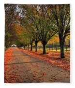 Welcome Home Bradford Pear Lined Drive-way Fleece Blanket