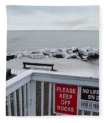 Welcome Polar Bear Club Fleece Blanket