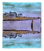 Welcome To Bald Head Island II Fleece Blanket