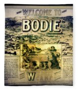 Welcome To Bodie California Fleece Blanket