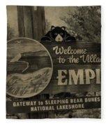 Welcome To Empire Michigan Fleece Blanket