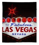 Welcome To Fabulous Las Vegas Fleece Blanket
