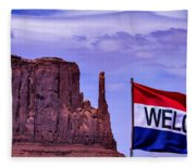 Welcome To Monument Valley Fleece Blanket