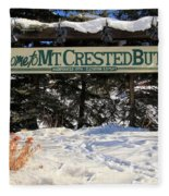 Welcome To Mt Crested Butte Fleece Blanket