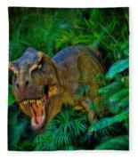 Welcome To My Park Tyrannosaurus Rex Fleece Blanket