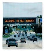 Welcome To New Jersey Fleece Blanket