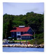 Welcome To Oak Bluffs Fleece Blanket