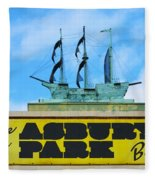 Welcome To The Asbury Park Boardwalk Fleece Blanket
