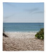 Welcome To The Beach Fleece Blanket