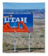 Welcome To Utah Fleece Blanket